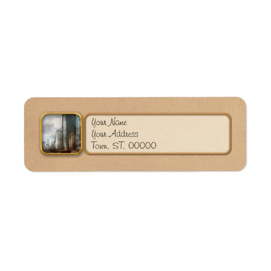 City - Chicago, IL -  Building a new city Return Address Label
