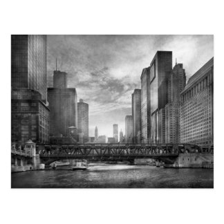 City - Chicago, IL - Looking toward the future BW Post Card