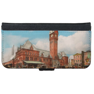 City - Chicago Ill - Dearborn Station 1910 iPhone 6 Wallet Case