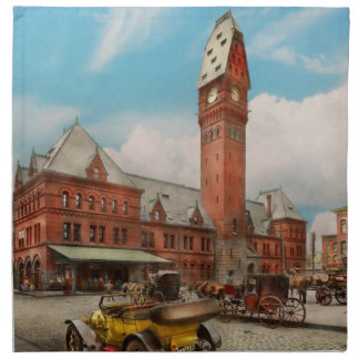City - Chicago Ill - Dearborn Station 1910 Napkin