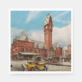 City - Chicago Ill - Dearborn Station 1910 Paper Napkin
