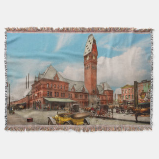 City - Chicago Ill - Dearborn Station 1910 Throw Blanket