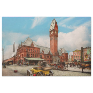 City - Chicago Ill - Dearborn Station 1910 Tissue Paper