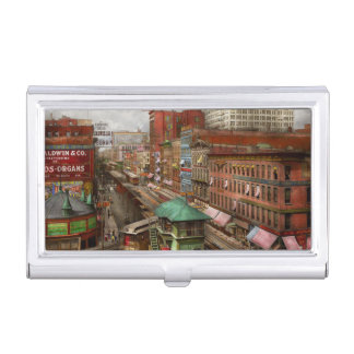 City - Chicago - Piano Row 1907 Business Card Holder