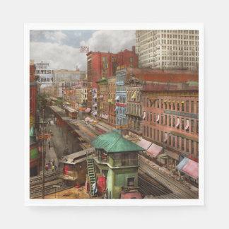 City - Chicago - Piano Row 1907 Disposable Napkins