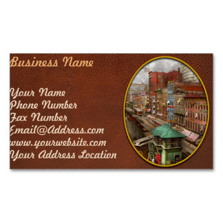 City - Chicago - Piano Row 1907 Magnetic Business Card