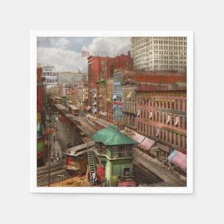 City - Chicago - Piano Row 1907 Paper Napkin