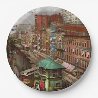 City - Chicago - Piano Row 1907 Paper Plate