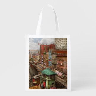 City - Chicago - Piano Row 1907 Reusable Grocery Bag