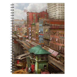 City - Chicago - Piano Row 1907 Spiral Notebook