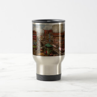 City - Chicago - Piano Row 1907 Travel Mug
