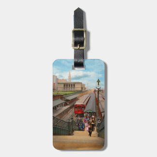 City - Chicago - The Van Buren Street Station 1907 Luggage Tag