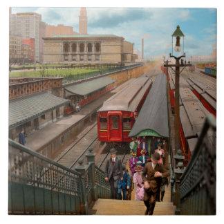 City - Chicago - The Van Buren Street Station 1907 Tile