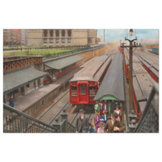 City - Chicago - The Van Buren Street Station 1907 Tissue Paper