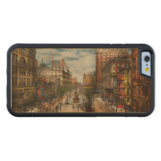City Cincinnati OH - Tyler Davidson Fountain 1907 Carved Maple iPhone 6 Bumper Case