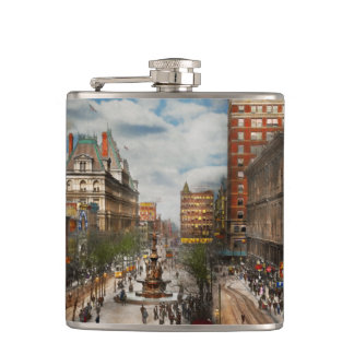 City Cincinnati OH - Tyler Davidson Fountain 1907 Hip Flask