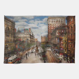 City Cincinnati OH - Tyler Davidson Fountain 1907 Kitchen Towel