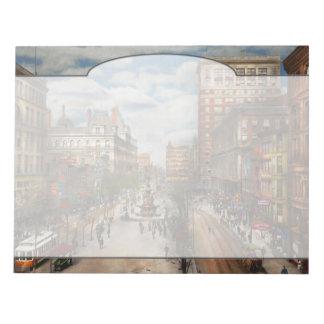 City Cincinnati OH - Tyler Davidson Fountain 1907 Notepad