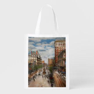 City Cincinnati OH - Tyler Davidson Fountain 1907 Reusable Grocery Bag