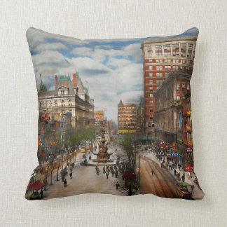 City Cincinnati OH - Tyler Davidson Fountain 1907 Throw Pillow
