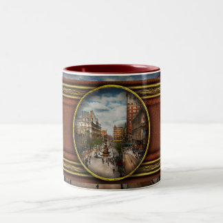 City Cincinnati OH - Tyler Davidson Fountain 1907 Two-Tone Coffee Mug