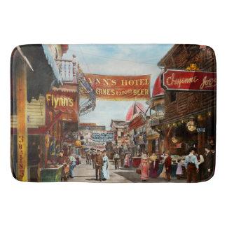 City - Coney Island NY - Bowery Beer 1903 Bath Mat