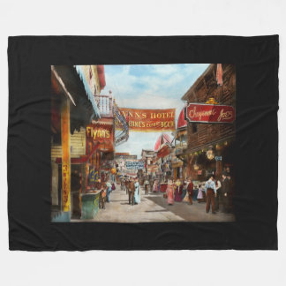 City - Coney Island NY - Bowery Beer 1903 Fleece Blanket