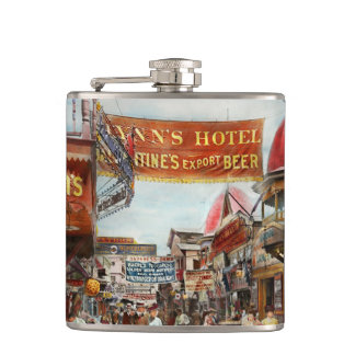 City - Coney Island NY - Bowery Beer 1903 Hip Flask