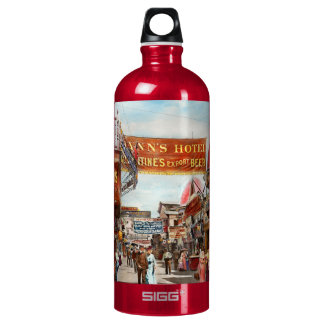 City - Coney Island NY - Bowery Beer 1903 Water Bottle