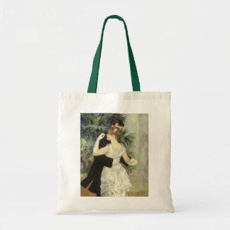 City Dance by Pierre Renoir, Vintage Fine Art Budget Tote Bag