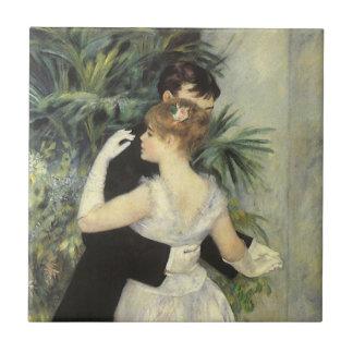 City Dance by Pierre Renoir, Vintage Fine Art Tile