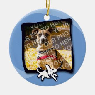 City Dogs Rescue Round Ceramic Ornament
