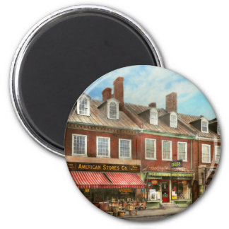 City - Easton MD - A slice of American life 1936 2 Inch Round Magnet