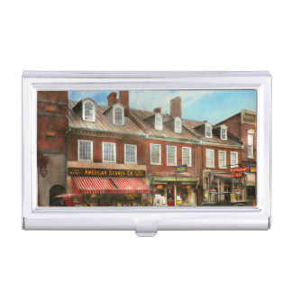 City - Easton MD - A slice of American life 1936 Business Card Holder