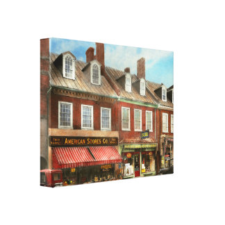 City - Easton MD - A slice of American life 1936 Canvas Print