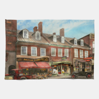 City - Easton MD - A slice of American life 1936 Kitchen Towel