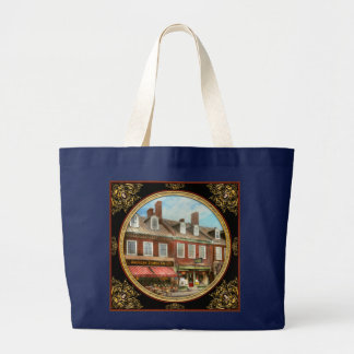 City - Easton MD - A slice of American life 1936 Large Tote Bag