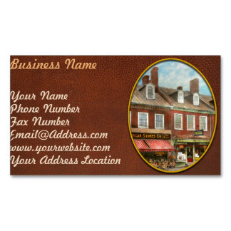 City - Easton MD - A slice of American life 1936 Magnetic Business Card