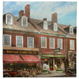 City - Easton MD - A slice of American life 1936 Napkin