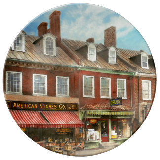 City - Easton MD - A slice of American life 1936 Porcelain Plates