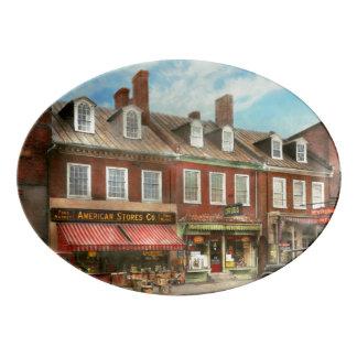 City - Easton MD - A slice of American life 1936 Porcelain Serving Platter