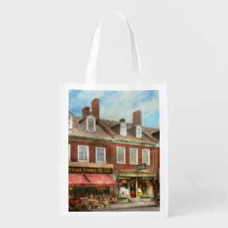 City - Easton MD - A slice of American life 1936 Reusable Grocery Bag