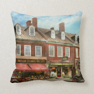 City - Easton MD - A slice of American life 1936 Throw Pillow