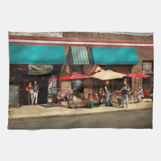 City - Edison NJ - Pino's basket shop Kitchen Towel