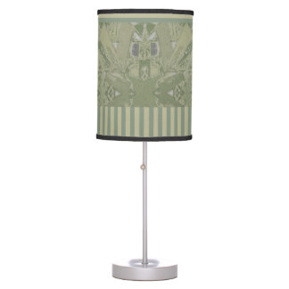 City Ethnic Abstract Coordinated Stripes in Khaki Table Lamp