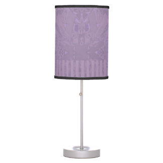 City Ethnic Abstract Coordinated Stripes in Purple Table Lamp