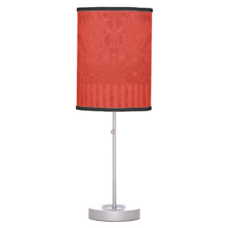 City Ethnic Abstract Coordinated Stripes in Red Table Lamp