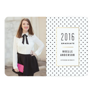 City Girl Chic Graduation Announcement