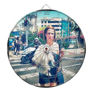 city girl dartboard