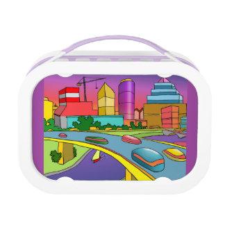 City girl purple yubo lunch box by DAL